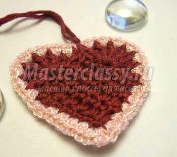 Вязаное сердечко - валентинка. Мастер класс с пошаговыми фото