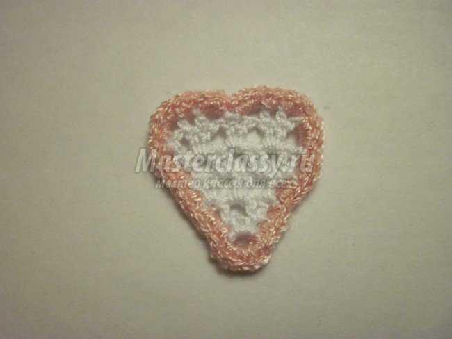 Вязаное сердце на 14 февраля
