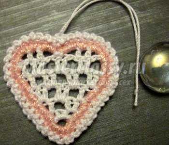 Вязаное сердце на 14 февраля. Мастер класс с пошаговыми фото