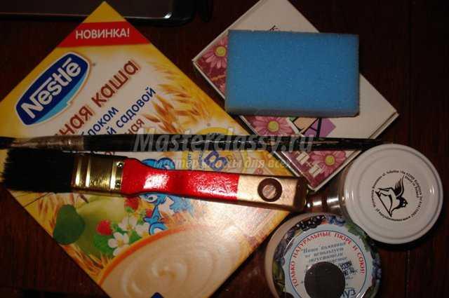 Рождественский декупаж упаковки для подарка на вечерю. Мастер...