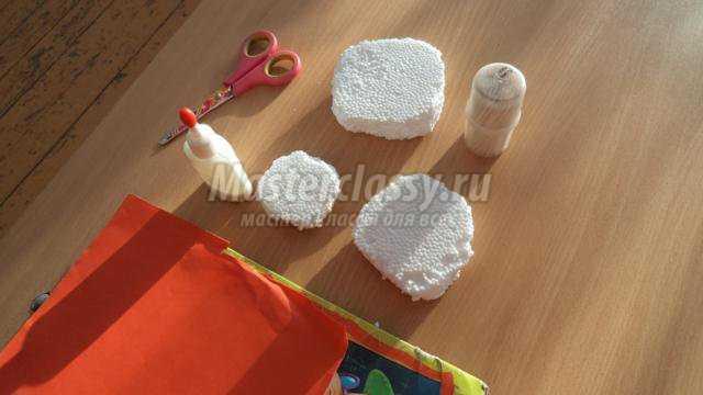 Поделка снеговика своими руками из ткани
