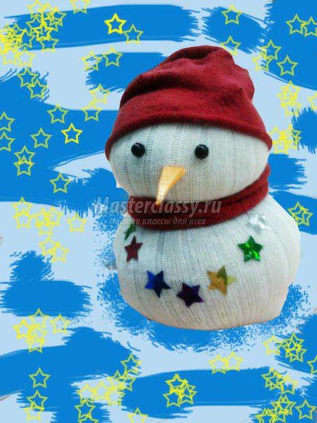 Сшить снеговика из носка своими руками