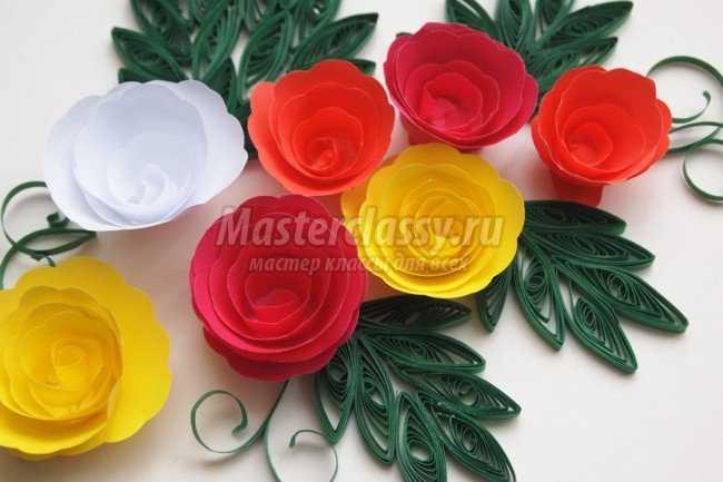 Квиллинг роза мастер класс с пошаговым фото