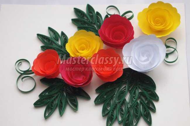 Цветы квиллинг пошаговое фото для начинающих