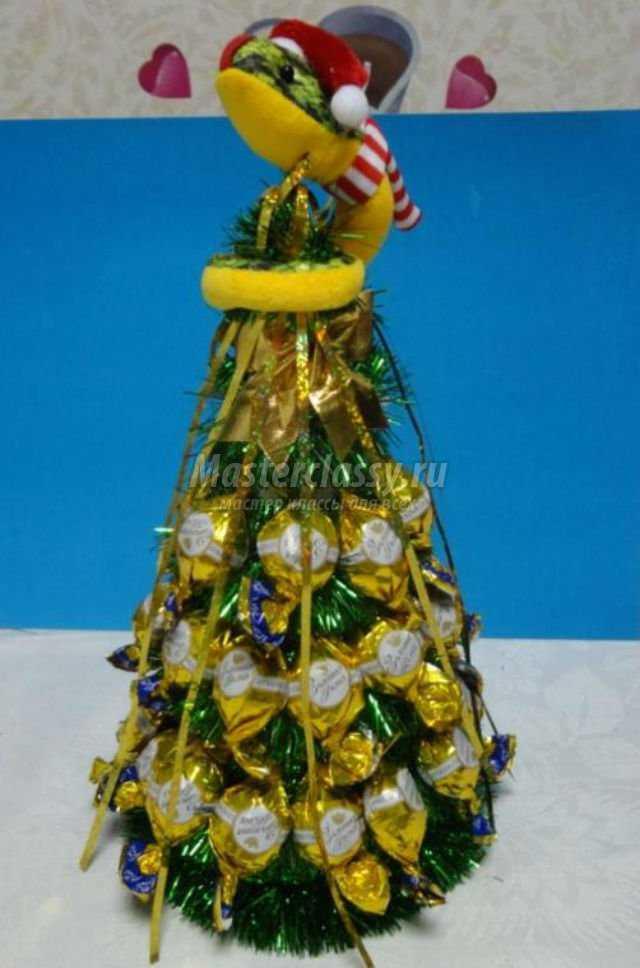 Ёлочка из конфет своими руками пошаговое фото