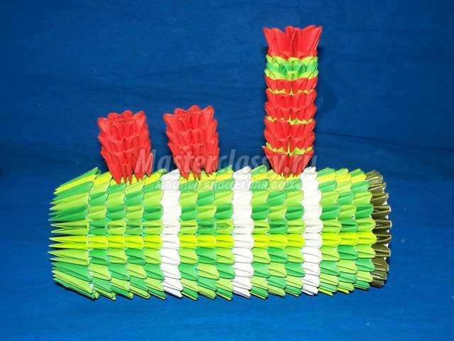 Сборка Паровоза оригами
