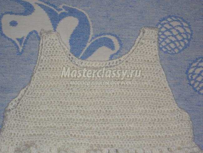 Платье, вязанное крючком для девочки от 1 года до 2