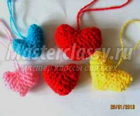 Вязание крючком. Сердечки для любимых на День Святого Валентина. Мастер класс с пошаговым фото