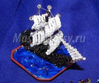 Фото корабля из бисера 17