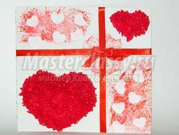 Открытка ко Дню святого Валентина. Мастер класс с пошаговыми фото