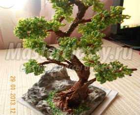 Дерево с бисера своими руками фото