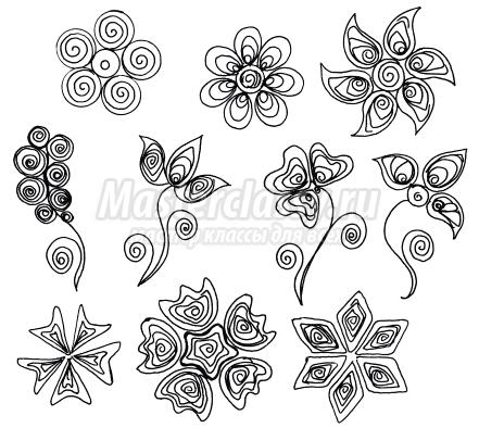 начинающих схемы цветов,