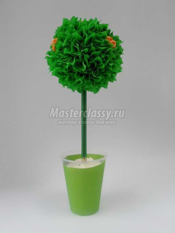 Декоративные деревья своими руками мастер класс