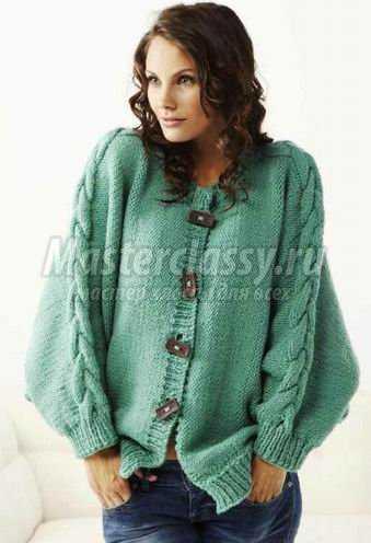 Модные жакеты. Схемы вязания