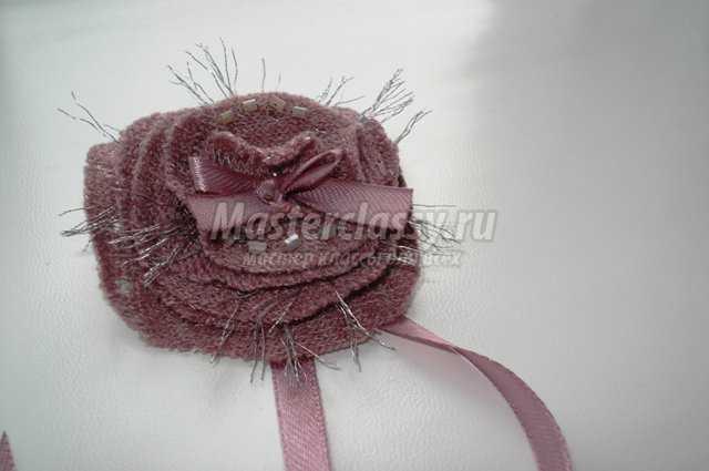 Брошь - Пепел розы