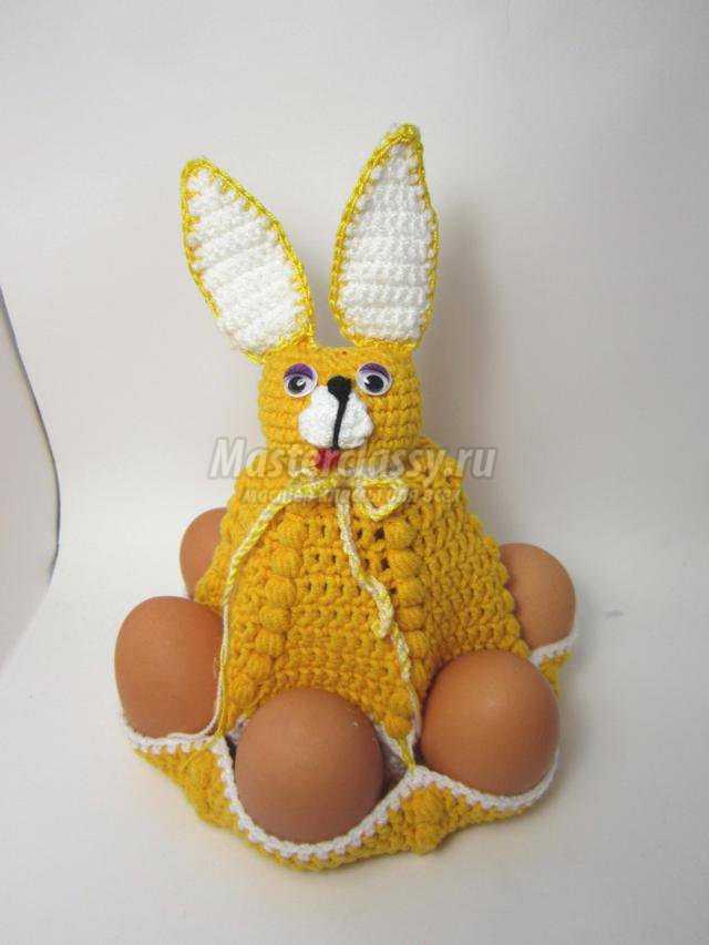 вязание пасхального зайца для