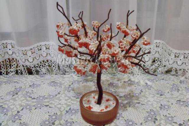 Бисероплетение деревья калина - Делаем фенечки своими руками.
