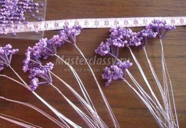 букеты цветов из бисера схемы.