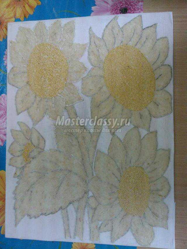 декоративное панно. Солнечные цветы