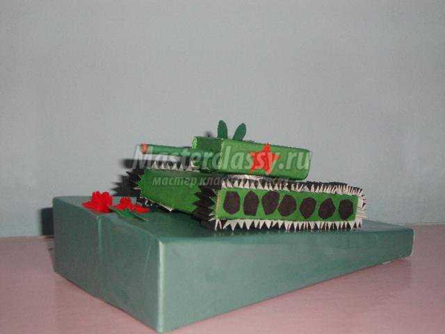 Поделка танка из картона своими руками