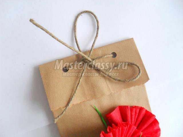 Подарочный пакет своими руками схема