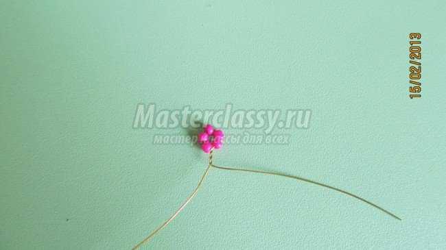 Проволока, Красный, розовый, зелёный бисер, Проволока толстая (2,5мм), Алебастр, Куколка, Подставка.