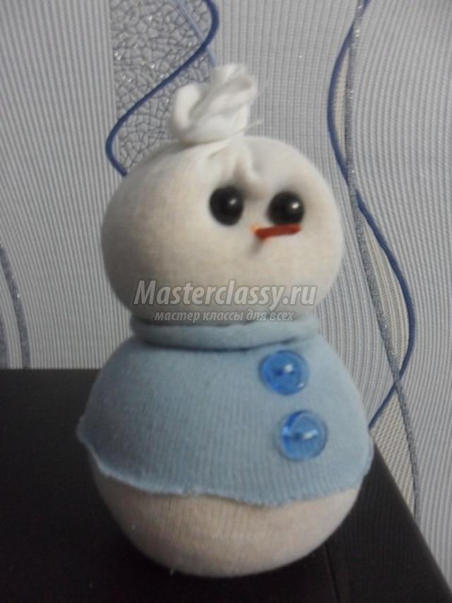 Снеговик спицами своими руками