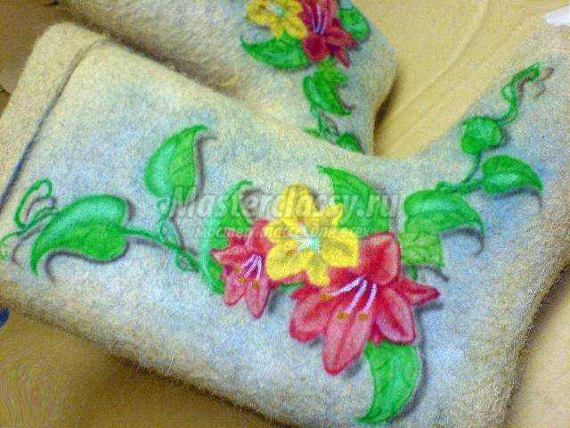 Вышивка на валенки своими руками фото
