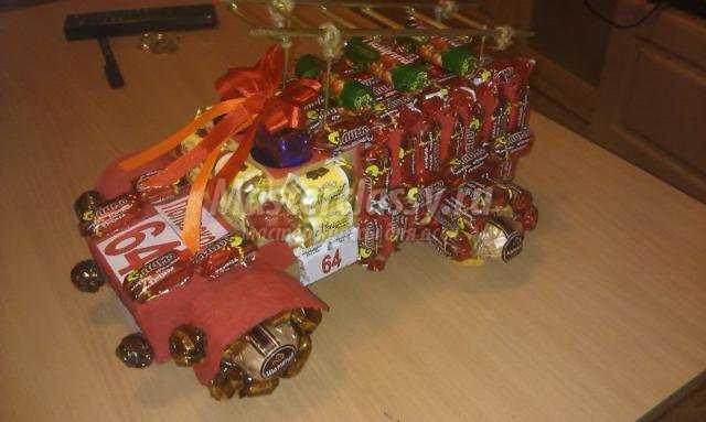 Теги: подарки конфеты пожарная машина