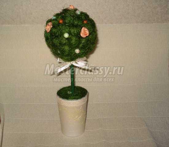 Топиарий дерево мастер класс с пошаговыми