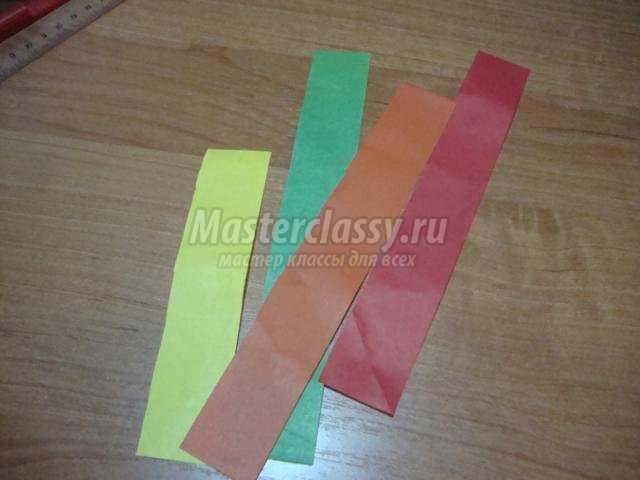 Аппликация.  Веточка рябины с элементами оригами.  Мастер класс с пошаговыми фото.