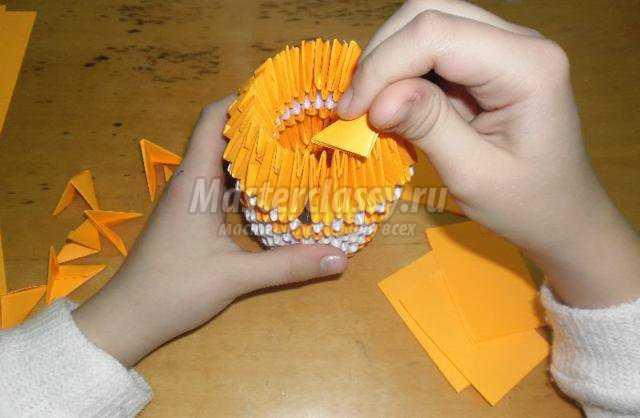 модульное оригами. Лиса