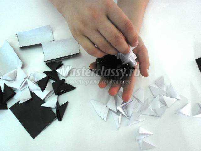 Модульное оригами. Пингвиненок. Мастер класс с пошаговым фото