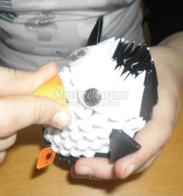 модульное оригами схема большого лебедя.