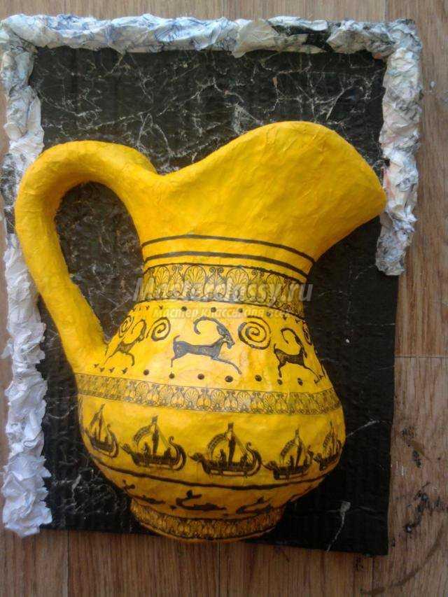 Папье маше ваза мастер классы 86