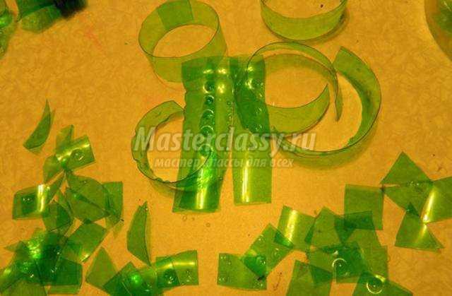 Поделка береза из пластиковой бутылки