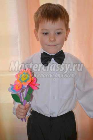 Цветы из бумаги вместе с детьми