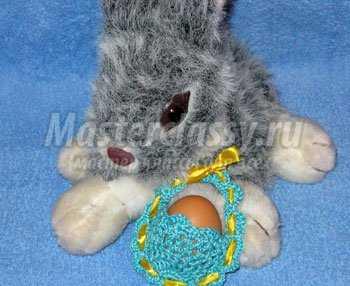 Пасхальное вязание крючком. Сумочка для пасхального яйца. Мастер класс