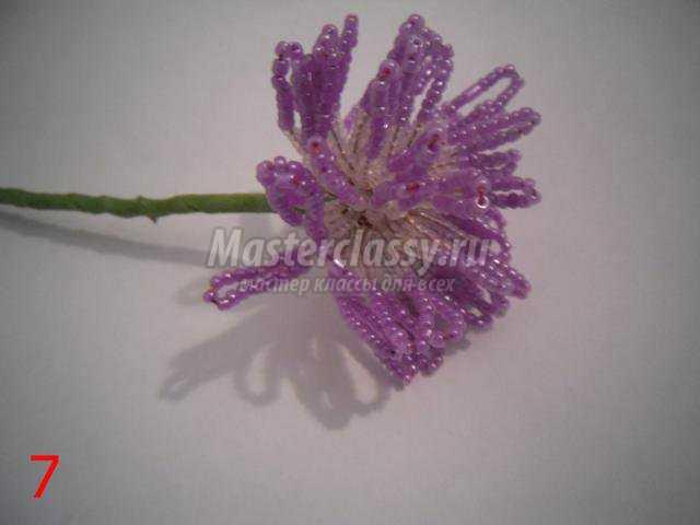 цветы из бисера. Хризантемы
