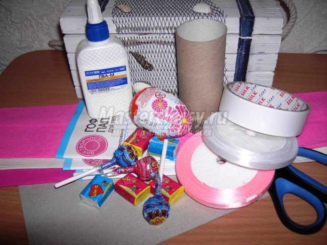 Сделать букет из конфет своими руками фото
