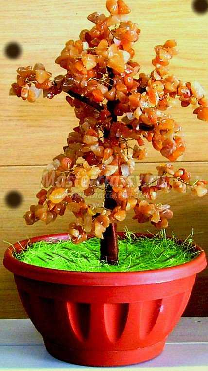 Дерево из камней мастер класс с пошаговым