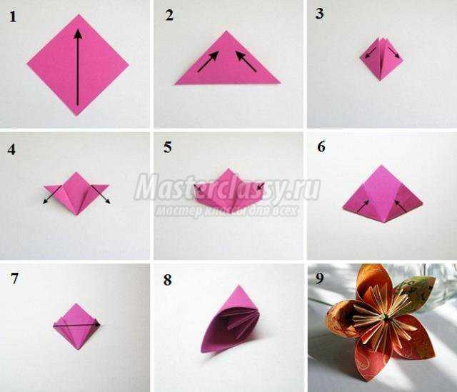 Поделки своими руками оригами цветки