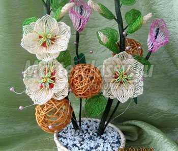 Каллы из бисера с пошаговым фото