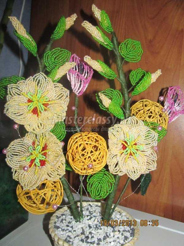 Цветы из бисера калла.