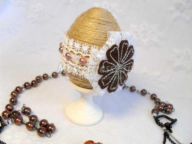 Пасхальный сувенир Яйцо на подставке