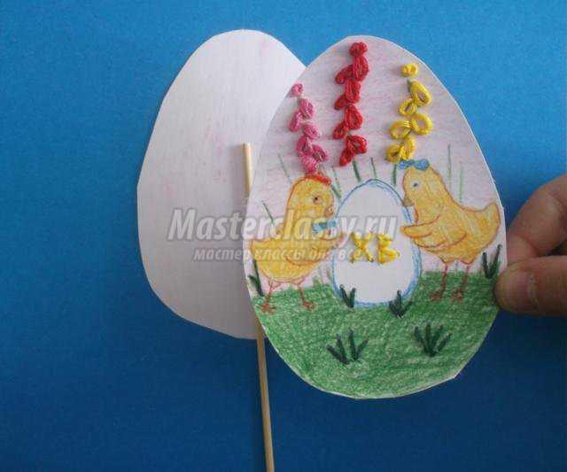 Яйцо пасхальное вышитое мастер класс идеи #7