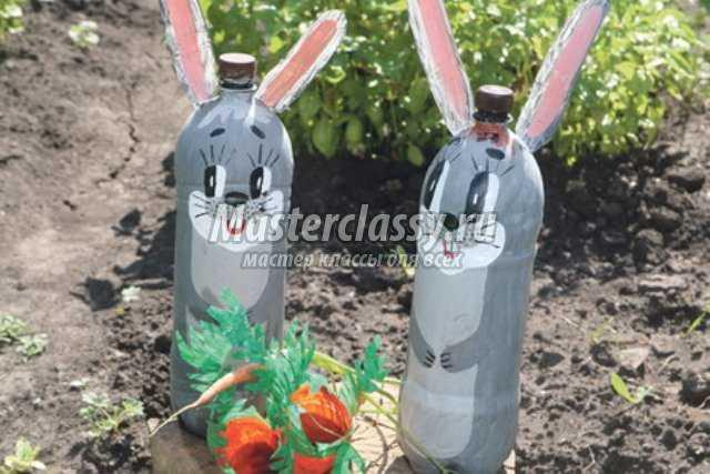 Пластиковые бутылки. Поделки для дачи