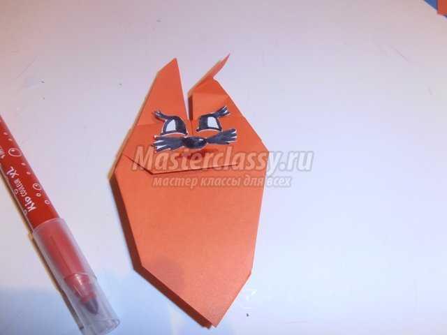 Подставка для пасхальных яиц - заяц в технике оригами