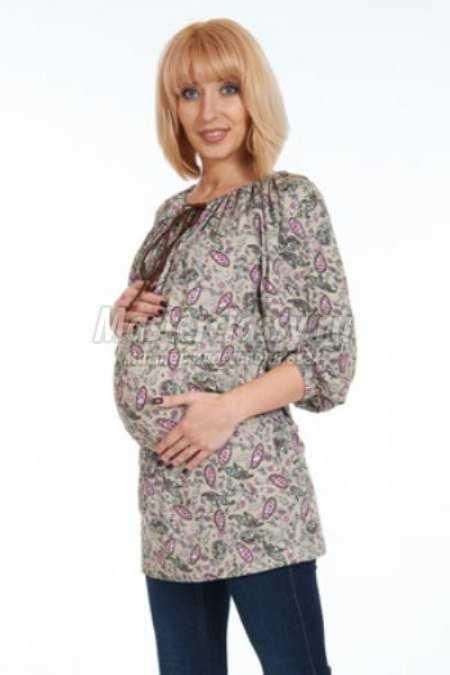 Трикотажная туника для беременной