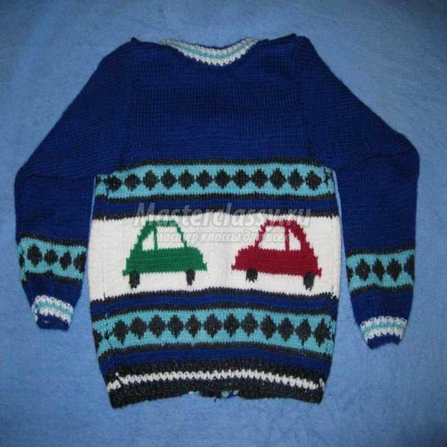 Вязание свитер для мальчиков мастер класс